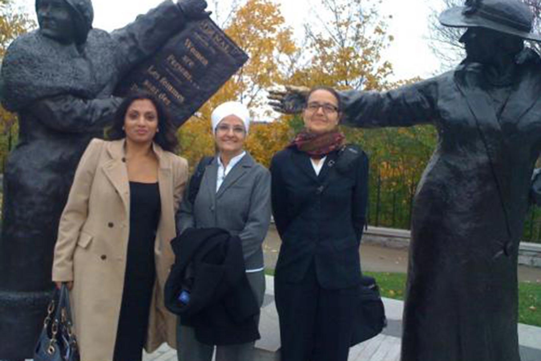 Kamaljit Lehal in Ottawa with EVA BC